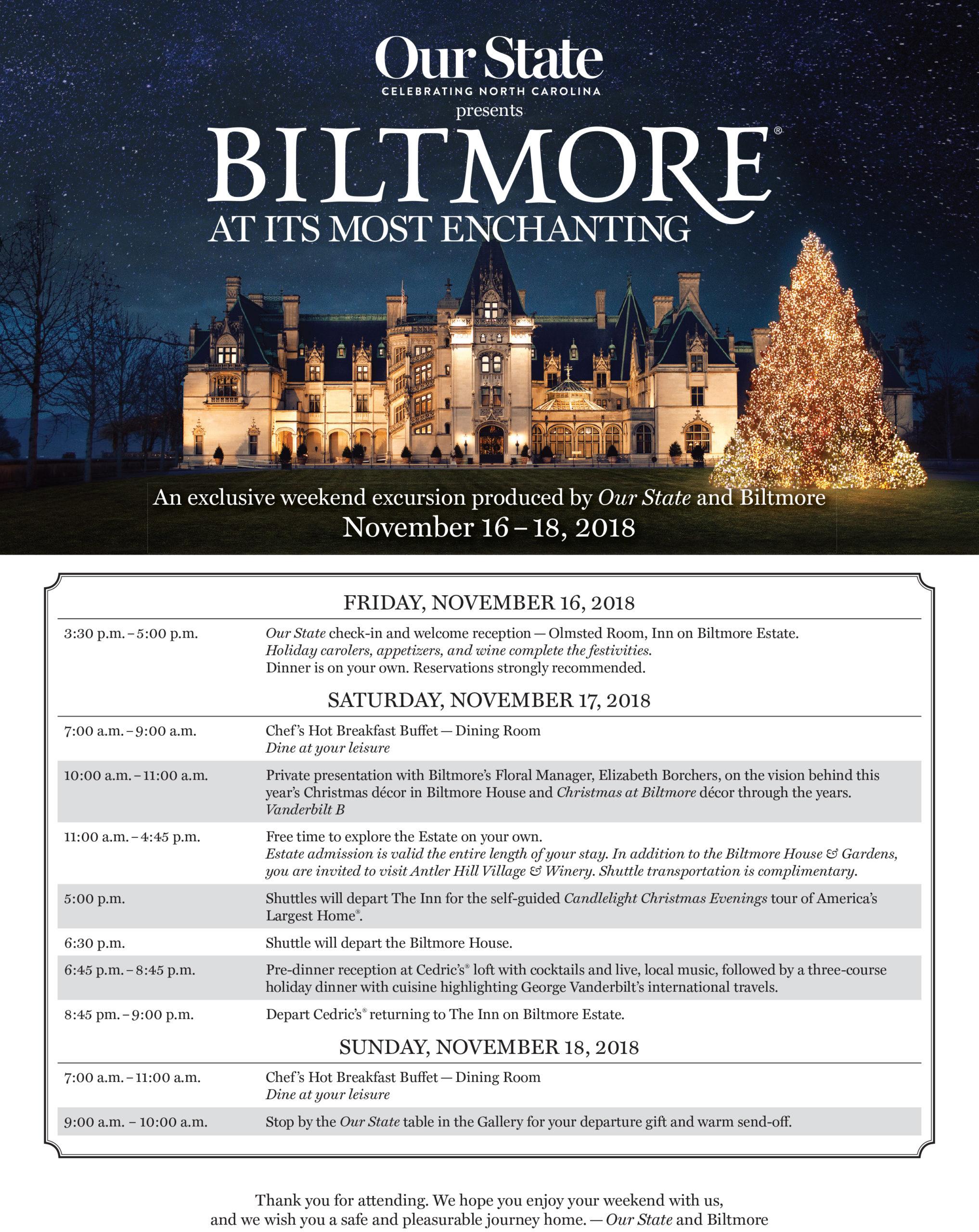 2018 Biltmore schedule.indd