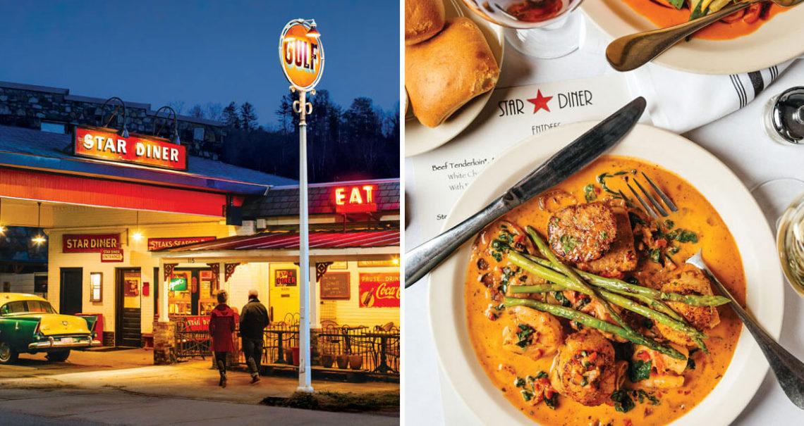 Filling Station Turned Five Star Restaurant Star Diner Our State