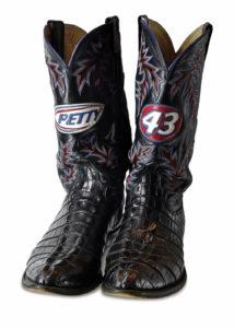Richard Petty's famous cowboy boots.