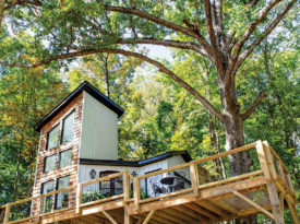 Outdoor photograph of The Carolina Treehouse.